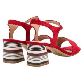 Modne Czerwone Sandały VINCEZA 6