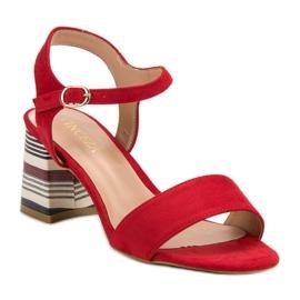 Modne Czerwone Sandały VINCEZA 4