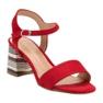 Modne Czerwone Sandały VINCEZA zdjęcie 4