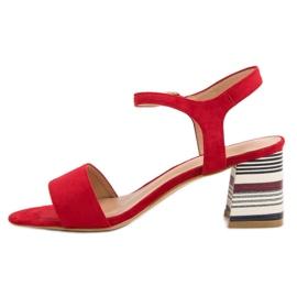 Modne Czerwone Sandały VINCEZA 5