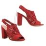 Seastar Ażurowe Zabudowane Sandały czerwone 3