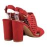 Seastar Ażurowe Zabudowane Sandały czerwone 4