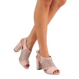 Seastar Ażurowe Zabudowane Sandały różowe 1