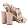 Seastar Ażurowe Zabudowane Sandały różowe 3