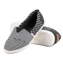 Tekstylne Slipony czarne 5