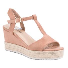 Seastar Różowe Sandały Espadryle 3