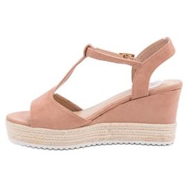 Seastar Różowe Sandały Espadryle 4