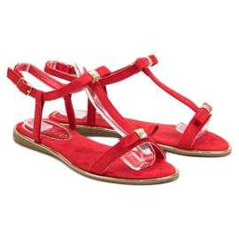 Sandałki Z Kokardką VINCEZA czerwone 1