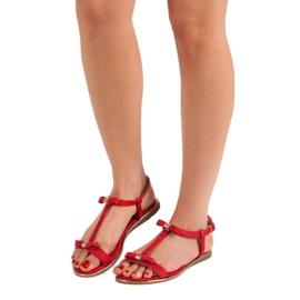 Sandałki Z Kokardką VINCEZA czerwone 2