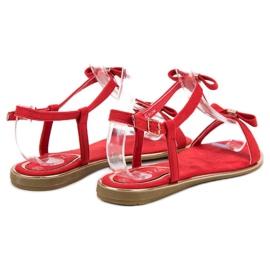 Sandałki Z Kokardką VINCEZA czerwone 6