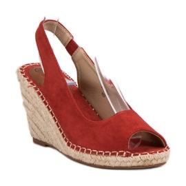Seastar Sandały Na Koturnie czerwone 2