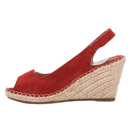 Seastar Sandały Na Koturnie czerwone 3