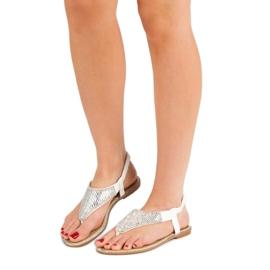 Encor Białe Sandały Japonki 2