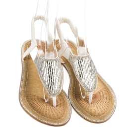 Encor Białe Sandały Japonki 4