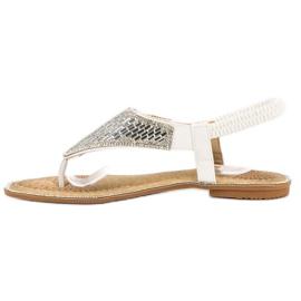 Encor Białe Sandały Japonki 1