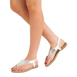 Encor Białe Sandały Japonki 3