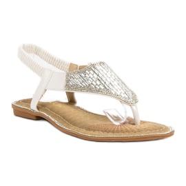Encor Białe Sandały Japonki 5