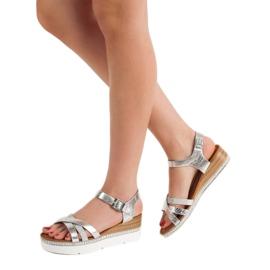 Seastar Modne Sandały Z Cyrkoniami szare 1