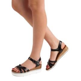 Seastar Modne Sandały Z Cyrkoniami czarne 2