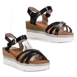 Seastar Modne Sandały Z Cyrkoniami czarne 3