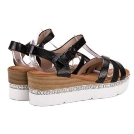 Seastar Modne Sandały Z Cyrkoniami czarne 4