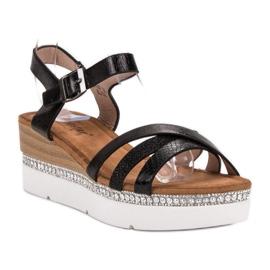 Seastar Modne Sandały Z Cyrkoniami czarne 5