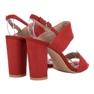 Ideal Shoes czerwone Seksowne Sandałki Na Obcasie zdjęcie 5