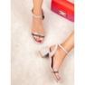 Ideal Shoes szare Stylowe Zamszowe Sandałki zdjęcie 6