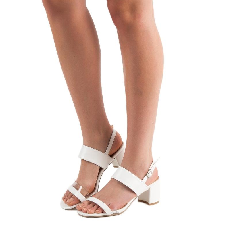 Ideal Shoes białe Modne Sandały Damskie zdjęcie 1