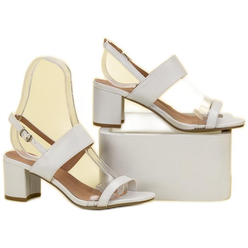 Ideal Shoes białe Modne Sandały Damskie zdjęcie 6