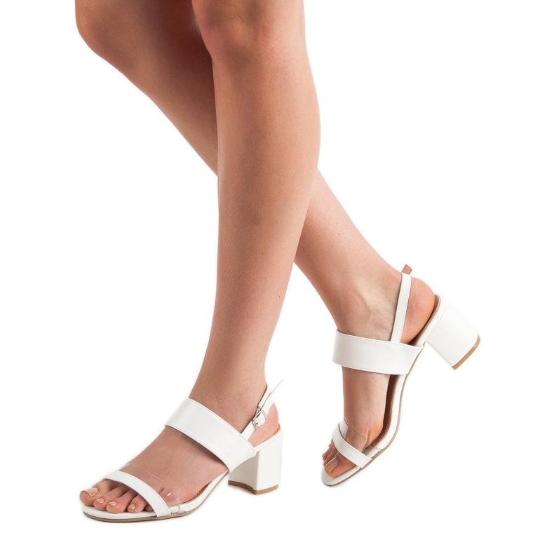 Ideal Shoes białe Modne Sandały Damskie zdjęcie 2