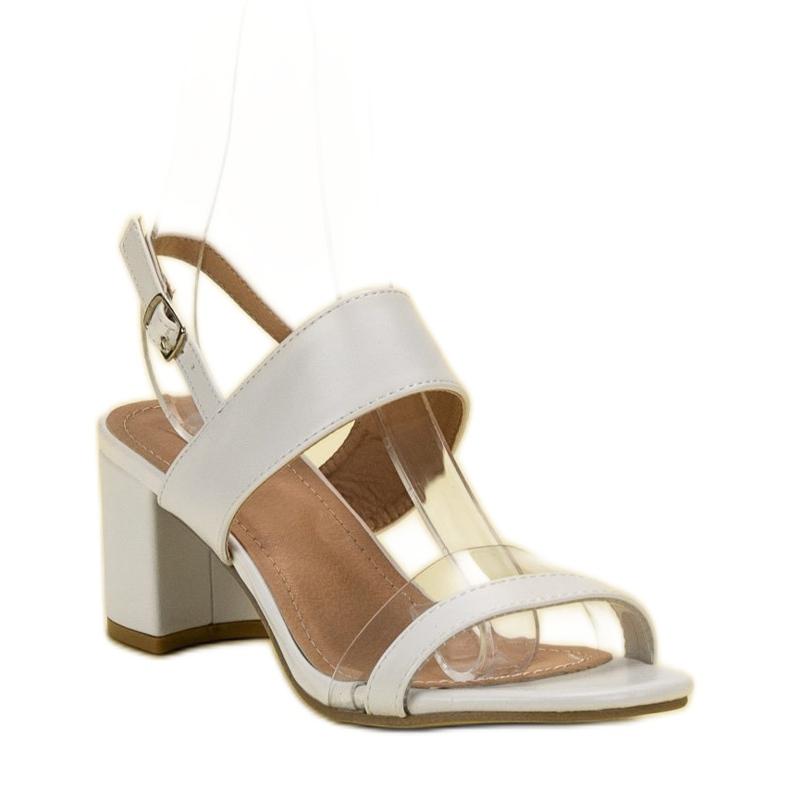 Ideal Shoes białe Modne Sandały Damskie zdjęcie 3