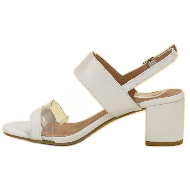 Ideal Shoes białe Modne Sandały Damskie zdjęcie 4