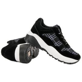SHELOVET Czarne Sneakersy 3