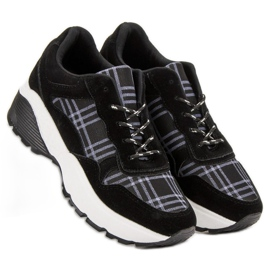 SHELOVET Czarne Sneakersy 4
