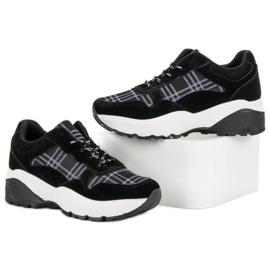 SHELOVET Czarne Sneakersy 5