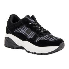 SHELOVET Czarne Sneakersy 7