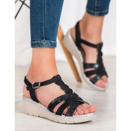 Kylie Lekkie Sandałki czarne 1