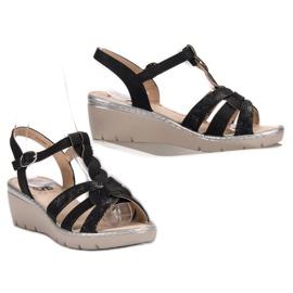 Kylie Lekkie Sandałki czarne 6