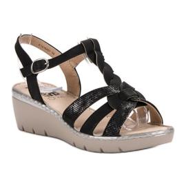 Kylie Lekkie Sandałki czarne 3