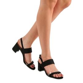 Ideal Shoes Modne Sandały Damskie czarne 2