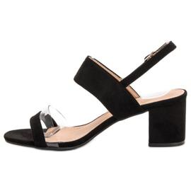 Ideal Shoes Modne Sandały Damskie czarne 4