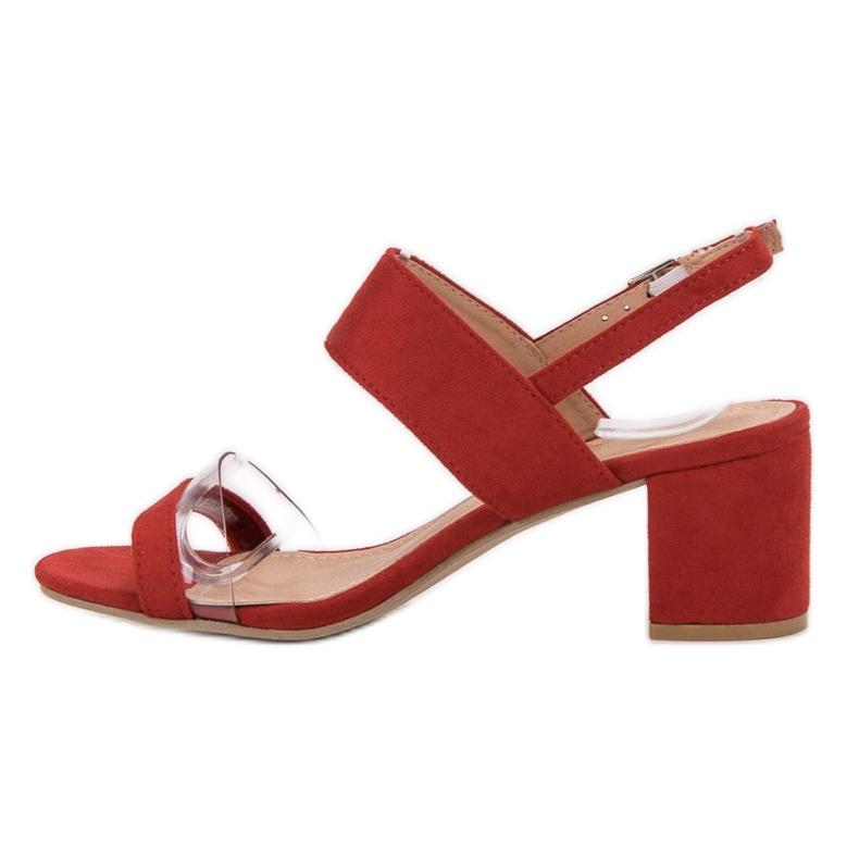Ideal Shoes czerwone Modne Sandały Damskie zdjęcie 1