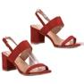 Ideal Shoes czerwone Modne Sandały Damskie zdjęcie 3