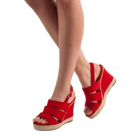 Primavera Czerwone Sandały 3