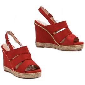 Primavera Czerwone Sandały 4