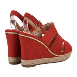 Primavera Czerwone Sandały 5