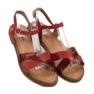 L. Lux. Shoes Stylowe Czerwone Sandały 5