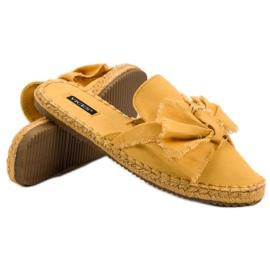 Zabudowane Klapki VICES żółte 4