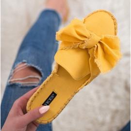 Zabudowane Klapki VICES żółte 6